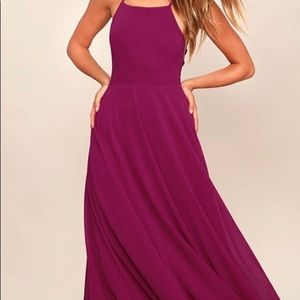 Dresses & Skirts - STRAPPY TO BE HERE MAGENTA MAXI DRESS